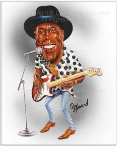 Buddy Guy Limited Edition Celebrity Caricature by Don Howard