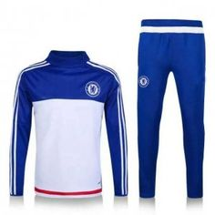 Chelsea FC 2016-17 Season White with blue Tracksuit  E474  Best Jersey 037ca7f77