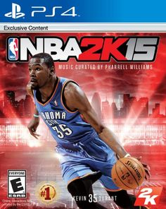 NBA - PC: Nominated for 70 'Game of the Year' Awards, NBA is the ultimate basketball simulation experience. Featuring NBA MVP Kevin Durant on the cover, NBA hits the court with unprecedented life-like graphics, ultra-realistic NBA gameplay, and more. Pharrell Williams, 2k Games, Xbox 360 Games, Playstation Games, Board Games, Latest Video Games, Video Games Xbox, Fc Bayern Munich, Kevin Durant