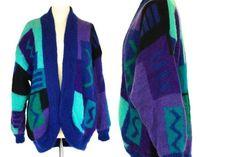 80s Pure Mohair Oversized Blue Purple Turquoise #clothing #jacket @EtsyMktgTool #puremohaircoat #puremohairjacket #madeinenglandcoat Dress Sale, Dresses For Sale, Purple Coat, Coatigan, Emo Hair, Open Front Cardigan, Color Shades, Blue Fabric, Mardi Gras