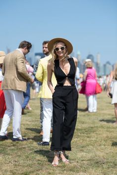 Diane Kruger. ELLE.com photographer Tyler Joe captures the chicest street style moments from Veuve Cliquot Polo Classic in New York City's Liberty Island, where Hollywood's finest gathered to kick off summer.