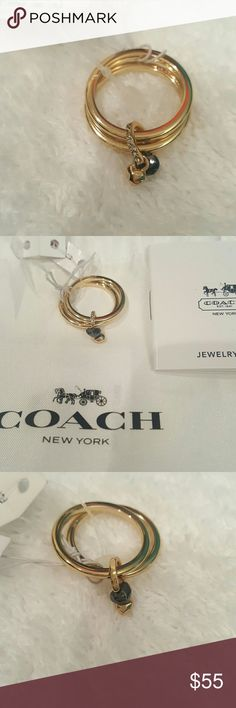 Coach Ring Sz 7 or 8 .... Coach Jewelry Rings