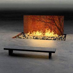 Diy Outdoor Gas Fire Pit Burner Inside Desert In View Cool Fire ...
