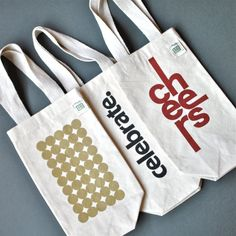 Holiday Canvas Reusable Wine Bags