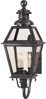 """Suggested Outdoor Post Lighting for Front Porches and Garage 24 1/4""""h x 9""""w Extension: 15 1/4"""" Backplate: 4"""" x 6"""""""