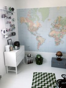 Wereldkaarten in de kinderkamer | Decorate with maps in kids rooms (Fawn and Forest)