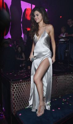 Selena Gomez in a slip dress in Vegas