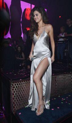 Selena Gomez in a slip dress in Vegas