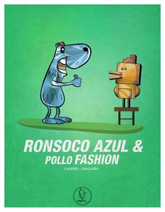 Ronsoco azul & pollo fashion
