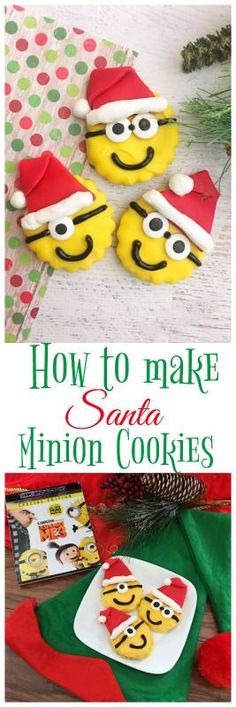 How to Make Santa Minion Cookies to go with new Despicable Me 3 Special Edition with an All-New Mini Movie, Minion Moments and more! #DespicableMe3 #DM3family #ad