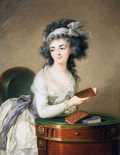 Retrato de mulher lendo, 1776 [Retrato de Zofia Potocka?] círculo de Élisabeth Vigée-Le Brun óleo sobre tela, 101 x 66 cm