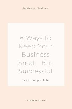 If you do choose to keep your business small, you will find that you able to retain more control over your business and enjoy a more balanced lifestyle. Ironically, most entrepreneurs start their businesses to gain more freedom and balance in their lives and then turn around and do things that work against that goal!