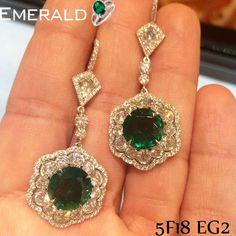 Adorn beautiful emerald earrings and look classy