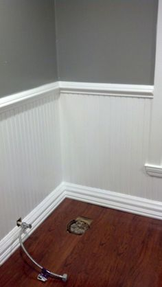 Half Wall Painted Wood Paneling Treatment Certainly More Of An