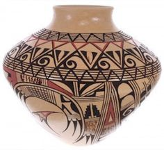 Hand Crafted Hopi Pottery - Vase by Native American artist Venora Silas www.nativeamericanjewelry.com