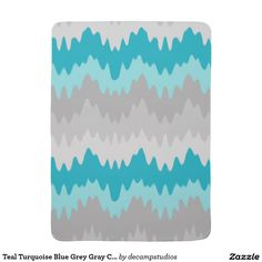 Teal Turquoise Blue Grey Gray Chevron Ombre Fade Swaddle Blankets