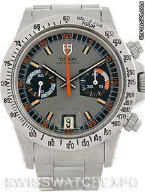 Tudor Montecarlo Chronograph Steel Mens Vintage Watch 7159 $15,900 #Tudor #watch #watches #chronograph steel case with steel bracelet and manual winding