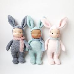 Bunny doll Easter bunny Cashmere Handmade waldorf doll