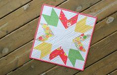 Starburst quilt pattern from Canoe Ridge Creations - mini quilt