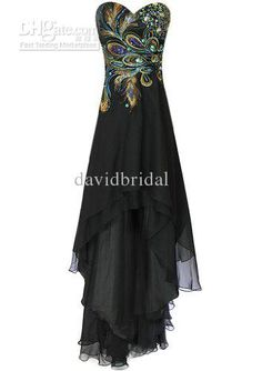 Show your best to all people even in the evening and then get  design fashion peacock feather dresses sweetheart neckline hi-lo long formal evening prom dresses high low party gowns black no sleeve in davidbridal and choose wholesale plus size black evening dresses,second hand evening dresses and sexy long evening dresses on DHgate.com.