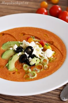 Aspikový dort nebo terina se šunkovými rolkami - Meg v kuchyni Gazpacho, Thai Red Curry, Ethnic Recipes, Soups, Soup