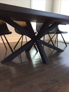 Dining Table with Extension and Metal Base Dining Table, Base, Metal, Projects, Furniture, Home Decor, Log Projects, Homemade Home Decor, Diner Table