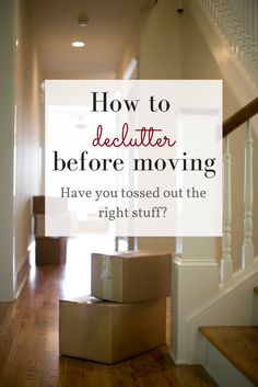 Moving to a new home is the best time to let go of the things you no longer need! Not only will it save you money (every box you pack adds up), but you don't want to fill up your brand new home with junk. Check out these guidelines on how to decl Moving House Tips, Moving Home, Moving Day, Moving Tips, Moving Hacks, Moving Stress, Boxes For Moving, Moving Organisation, Diy Organization