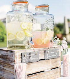 16 Wedding Planning Mistakes & How To Avoid Them - Homemade artisanal jarred sparkling elderflower and lemonade