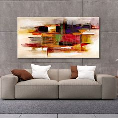 Cuadro abstracto cálido geométrico Acrylic Painting Flowers, Acrylic Art, Painting Frames, Painting & Drawing, Watercolor Paintings, Large Abstract Wall Art, Pastel Art, Beautiful Drawings, Art Drawings Sketches