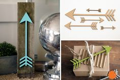 Get your creative juices flowing with these 5 MDF arrows. Great for gift wrapping, home decor, and DIY projects. The possibilities are endless! What would you create?