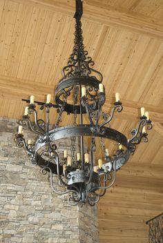 LOVE!!  Large rustic chandelier  Eureka Ironworks, Inc. Designs by David Cunningham  in Arkansas 479-253-1242  david@eurekaironworks.com