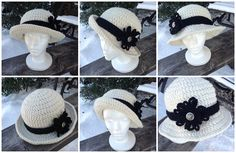 Free crochet pattern for a Versatile Bowler Style Hat.