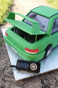 Car Cake with sound system by ~Verusca on deviantART