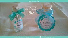 Lindas botellitas para agua bendita, ideales para dar como recuerdo en misas de quince años, bautizo, boda, confirmación, primera comunión, etc.