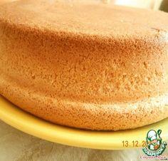 Вот он, пышный и воздушный бисквит! Замечательно подходит для тортов!