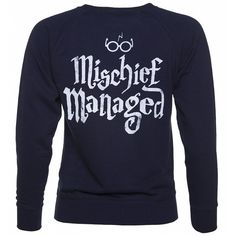Women's Harry Potter I Solemnly Swear Mischief Managed Sweater (€35) ❤ liked on Polyvore featuring tops and sweaters