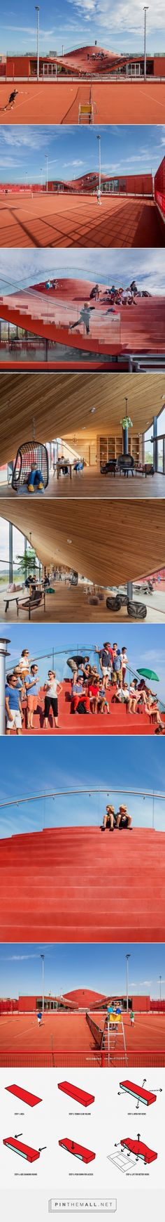 MVRDV completes the couch for amsterdam tennis club - created via http://pinthemall.net