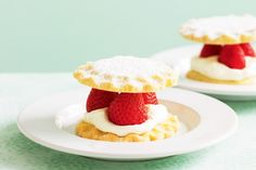 Ripe strawberries are the sweet hearts of these cream-filled treats.