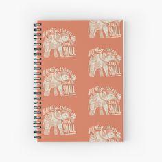 My Notebook, Spiral, Journals, Elephant, My Arts, Art Prints, Printed, Words, Big