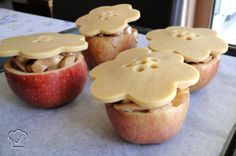 Make apple pie in an apple.  What a great idea!