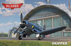 Meet Skipper: A Navy Corsair with aerial expertise that may be the key to helping Dusty fly faster and smarter.