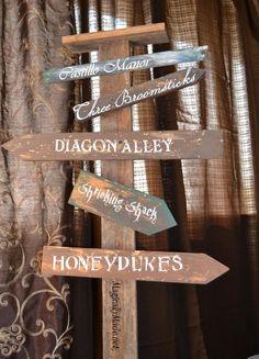 diy harry potter directional sign
