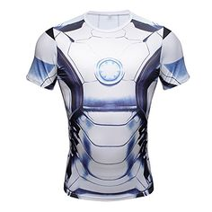 NEW Avengers Iron Man Superhero Costume Slim Fit TShirt Athletic Cycling  Jersey L    Find 02c0cd478