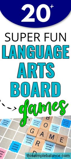 20  Language Arts Board Games - learn everything from grammar to spelling to vocabulary using educational board games. Make learning language arts FUN! #homeschool #gameschooling Grammar Skills, Grammar Help, Classroom Activities, Kid Activities, Classroom Ideas, Language Arts Games, Double G, Basic Sight Words, Educational Board Games