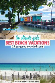 These 35 beachy spots need to be on your bucket list! Gorgeous beaches, vibrant towns and secluded spots are all included. If you're looking for a beach getaway, it's on this list! | Beach Vacations | Cheap Vacation Ideas | Cheap USA Beach Vacation | Caribbean Vacations for Cheap Cheap Beach Vacations, Caribbean Vacations, Destin Beach, Vacation Ideas, Beaches, Travel Destinations, Bucket, Vibrant, Usa