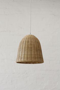Small Rattan Pendant Light Shade Natural Lights Lamp