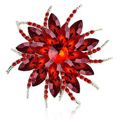 Happy Holiday Sale Deep Discount Off Ailer Fashionable Brooch Pins for Women Bouquet Flower Wedding Created Crystal Brooch-Red Brooch Corsage, Brooch Pin, Cleaning Silver Jewelry, Discount Jewelry, Crystal Brooch, Crystal Bouquet, Christmas Jewelry, Crystal Flower, Clip