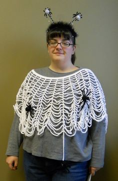 My Yarn Addiction: Spider Web Poncho Free Pattern