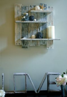 Wall Decor in Home & Living > Home Decor - Etsy Summer Celebrations - Page 6 Decor, Wood Pallet Projects, Shelves, Wood Wall Shelf, Wood Pallets, Home Decor, Small Decor, Reclaimed Wood Wall, Wood Pallet Wall
