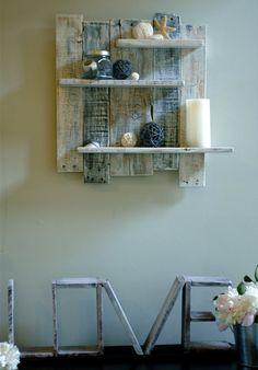 id es de bricolage tag re murale construire vous m me avec des palettes pallet wood. Black Bedroom Furniture Sets. Home Design Ideas